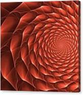 Copper Spiral Vortex Canvas Print