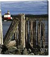 Coquille Lighthouse Oregon 3 Canvas Print