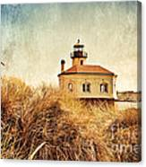 Coquille River Lighthouse - Texture Canvas Print