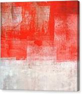 Tinted - Beige And Coral Abstract Art Painting Canvas Print