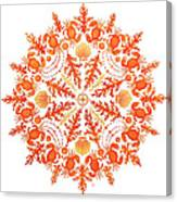 Coral Crab Mandala Canvas Print