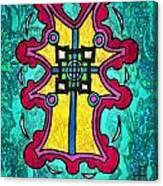 Coral Cross Canvas Print