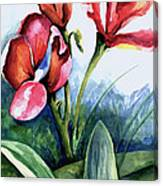 Coral Flower Study Canvas Print