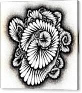 Coral Burst Canvas Print