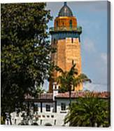 Coral Gables House And Water Tower Canvas Print