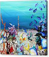 Coral Reef Blues  Canvas Print