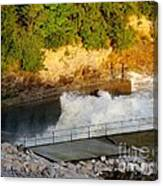 Coralville Dam At Capacity Canvas Print