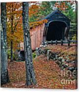 Corbin Covered Bridge Newport New Hampshire Canvas Print