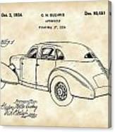 Cord Automobile Patent 1934 - Vintage Canvas Print