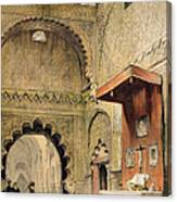 Cordoba Monk Praying At A Christian Canvas Print