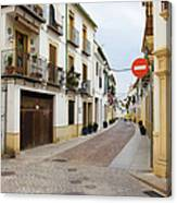 Cordoba Old Town Houses Canvas Print