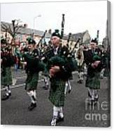 Corduff Pipe Band St Patricks Day Parade Carrickmacross Canvas Print