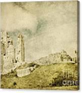 Corfe Castle - Dorset - England - Vintage Effect Canvas Print