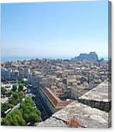 Corfu City Canvas Print