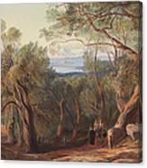 Corfu From Santa Decca Canvas Print
