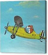 Corgi Aviator Canvas Print