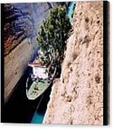 Corinth Canal Poster Canvas Print