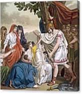 Coriolanus And His Mother Volumnia Canvas Print