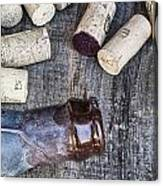 Corks With Bottle Canvas Print