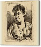 Cornelis Bega Dutch, 1631-1632-1664, Bust Of A Young Woman Canvas Print