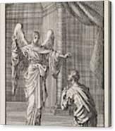 Cornelius Kneels Before The Angel Sent Canvas Print