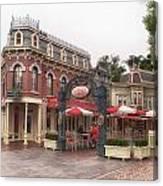 Corner Cafe Main Street Disneyland 02 Canvas Print