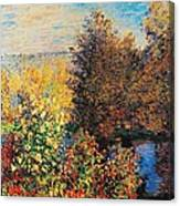 Corner Of Garden In Montgeron Canvas Print