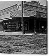 Corner Of Stone And W. Congress Street 180 Degrees Panorama Tucson Arizona C.1905 Canvas Print