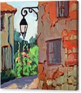 Street Corner In St. Colombe Canvas Print