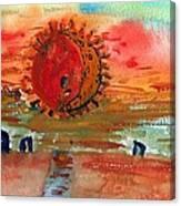 Cornish Eclipse Canvas Print