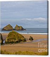 Cornish Seascape Holywell Bay Canvas Print