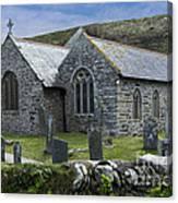 Cornish Seascape St Winwaloe Church Canvas Print