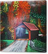 Cornwall Covered Bridge Canvas Print
