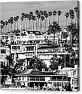 Corona Del Mar California Black And White Picture Canvas Print