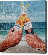 Coronas In The Rain Canvas Print