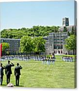 Corps Of Cadets Present Arms Canvas Print