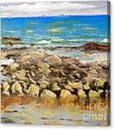 Corrimal Beach Near Towradgi Rook Pool Canvas Print