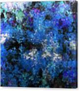 Corrosion Bleue Canvas Print