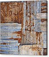 Corrugated Iron Background Canvas Print