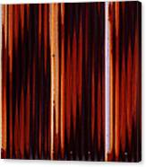 Corrugated Patterns In Orange And Black Canvas Print