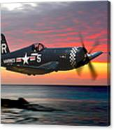 Corsair At Sundown Canvas Print