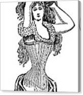Corset Advertisement  1897 Canvas Print