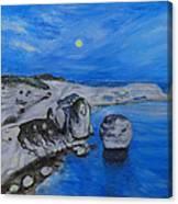 Corsica Bonifaccio Evening Canvas Print