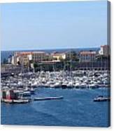 Corsican Marina Canvas Print