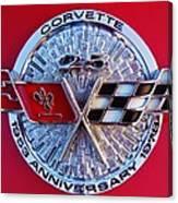 Corvette 25th Anniversary Emblem 1 Canvas Print