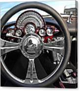 Corvette C1 - In The Driver's Seat Canvas Print