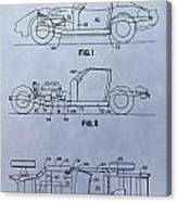 Corvette Patent Canvas Print