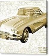 Corvette Sport Car Catus 1 No 2 Canvas Print
