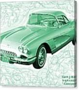 Corvette Sports Car Catus 1 No 3 Canvas Print