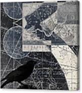 Corvus Star Chart Canvas Print